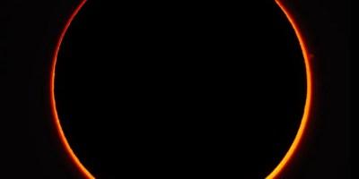 2016 annular solar eclipse above Madagascar