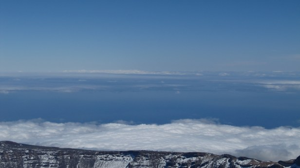 View from the Pico del Teide on clouds