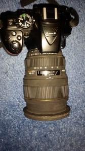 Sigma 24-70mm mounted on Nikon D5300 body