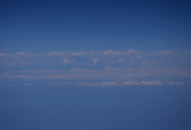 Himalaya Mts seen from the plane, Emirates DXB - MNL flight Mt Everest