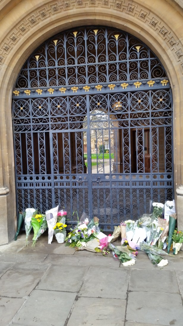 Stephen Hawking's funeral Goinville and Caius College condolences