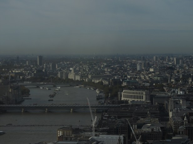 London Hilton Building and HyDe Park seen from the Walkie Talkie Sky Garden