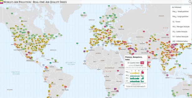 Worlds real-time air pollution map