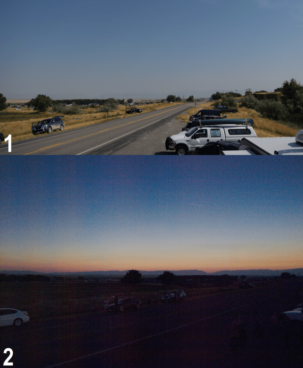 Owl Creek Mountains seen from Soshoni-Riverton way during 2017 total solar eclipse.