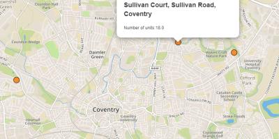 Leaflet OpenStreetMap data displayed