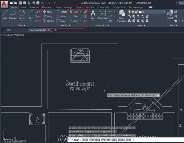 MagicPlan floorplan in AutoCAD2