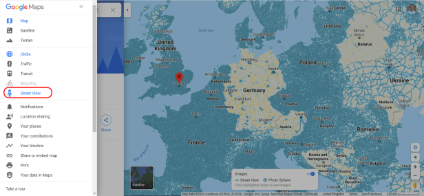 Google Maps Street View layer in Europe