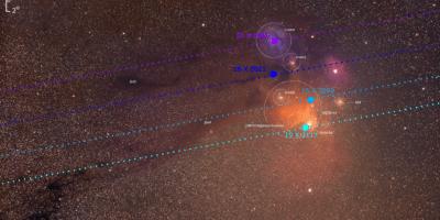 Scorpius, the ANtares and Meisser 4 region with Venus orbit path Mariusz Świętnicki