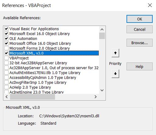 VVBA Excel XML library