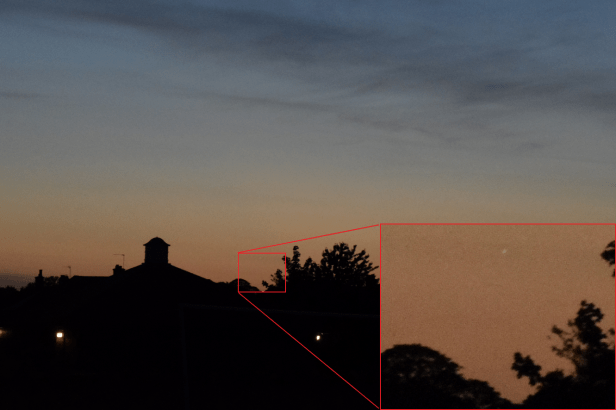 Visibility of Venus at 100mm Waterbeach Recreation Ground