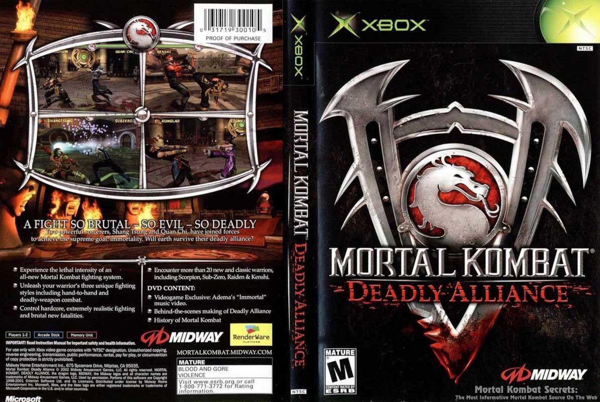 Mortal Kombat Deadly Alliance Box Art Mortal Kombat Secrets