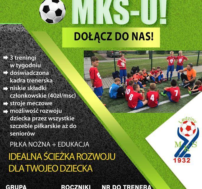Szczegóły naboru do grup młodzieżowych MKS-u!