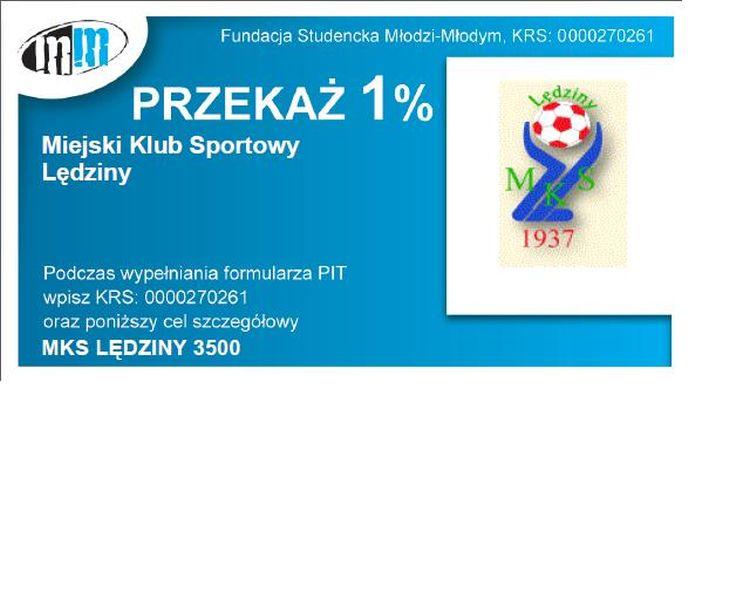 Przekaż 1% podatku dla MKS Lędziny!