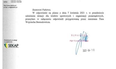 Stanowisko UM Lędziny wobec wniosku MKS Lędziny