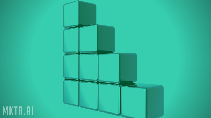 Stack of blocks symbolizing the skills necessary to become a data scientist, or someone capable of developing customer analytics