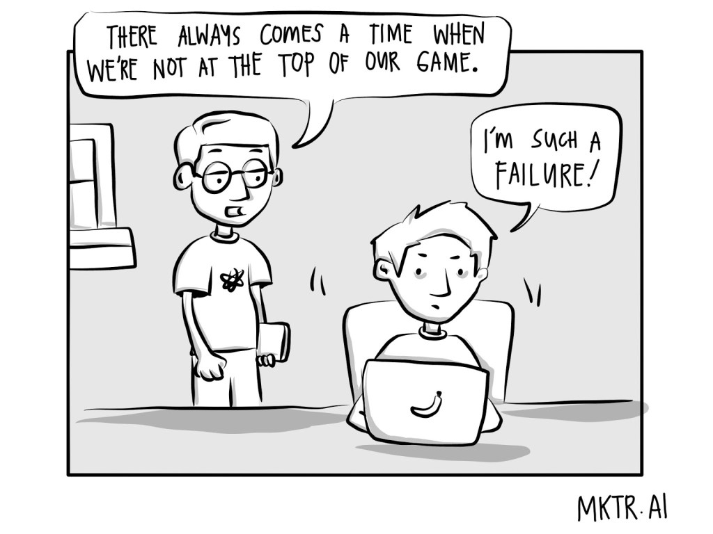 illustration about content marketing failure