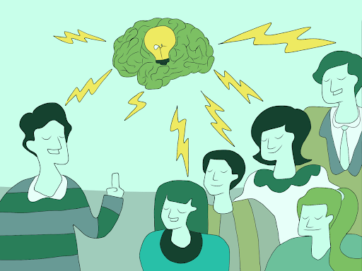 Illustration of educating and empowering future customers by MKTR.AI