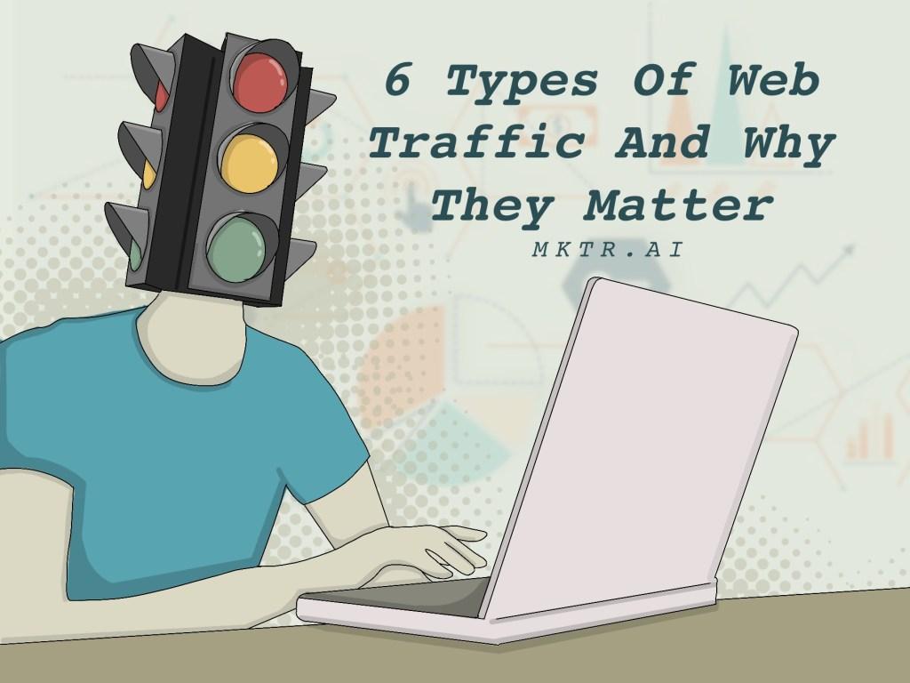 Illustration showing an entrepreneur managing their website traffic