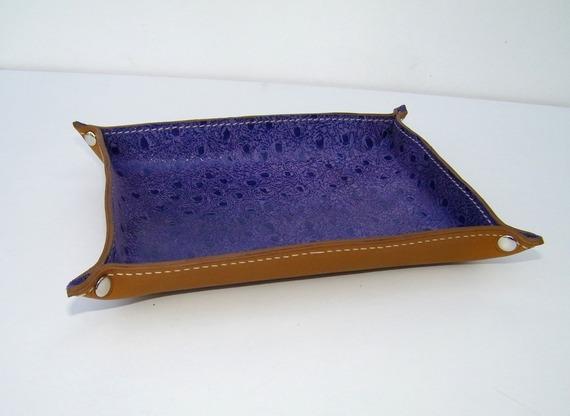 Vide-poche en cuir idée déco fabrication artisanale