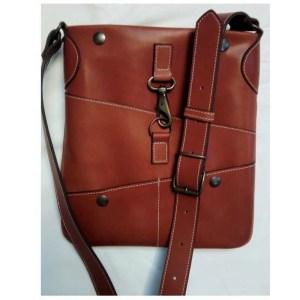Pochette sac en cuir pour homme made in France