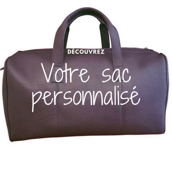 Sac de voyage en cuir sur mesure personnalisable fabrication artisanale française