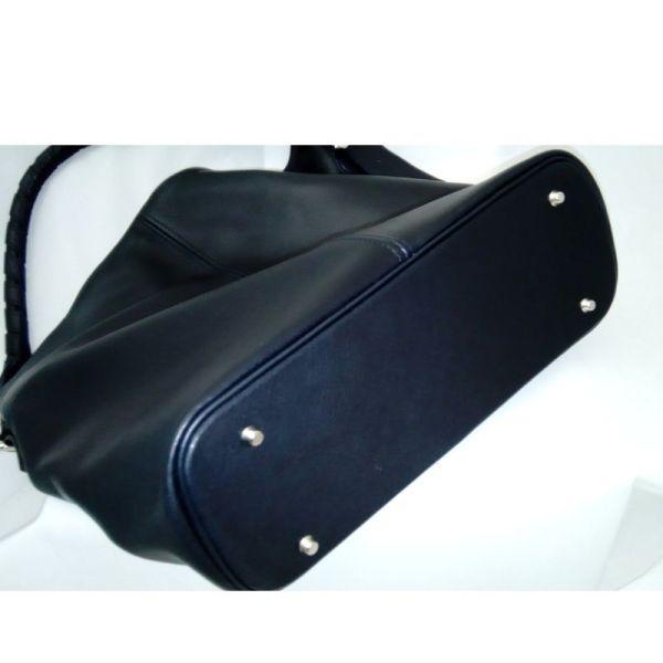 sac hobo en cuir noir fabriqué en France par ML-Sellier