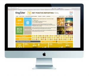 Kingfisher Net Positive branded reporting tool