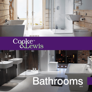 Cooke & Lewis Bathrooms Brochure front cover