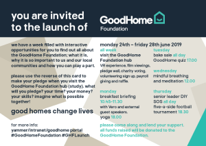 GoodHome Foundation postcard