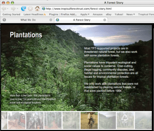 Tropical Forest Trust Flash interactive story
