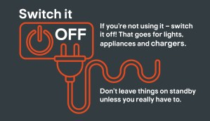 "Kingfisher Top Tips Saving Energy ""Switch-Off"" asset."