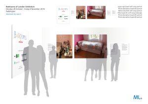 'Bedrooms of London' exhibition schematic