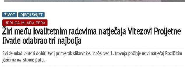 ePodravina: Žiri među kvalitetnim radovima natječaja Vitezovi Proljetne livade odabrao tri najbolja