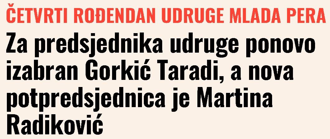 Medjimurski.hr: Za predsjednika udruge ponovo izabran Gorkić Taradi, a nova potpredsjednica je Martina Radiković