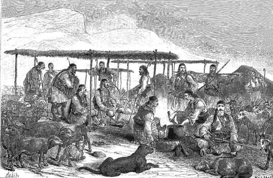 Imagine, satra de vlach (aromani) nomazi 1877