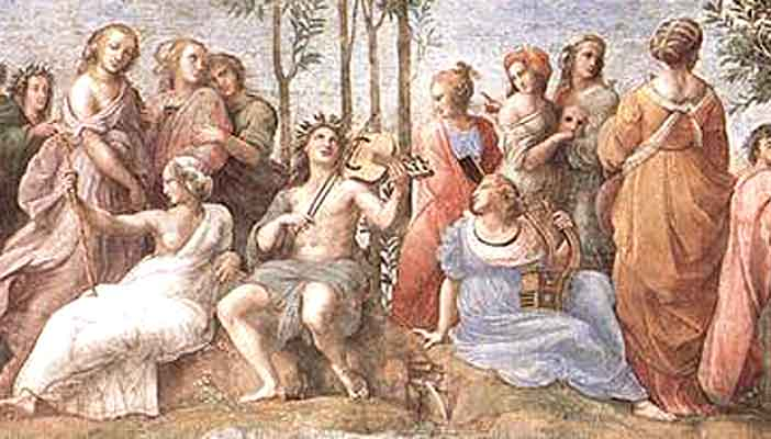 Apollo and the Muses, by Raphael