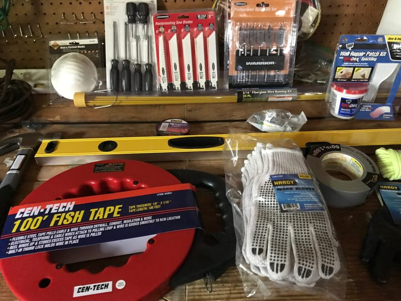 Tools for ethernet wiring project