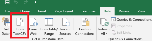 Excel data import