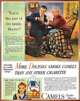 Doctors recommend Camel cigarettes