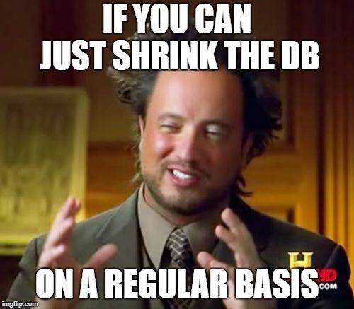 Shrink the database