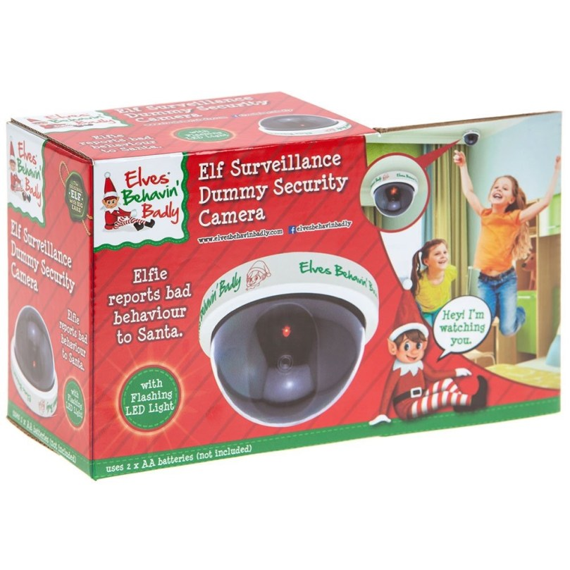 Elf surveillance dummy security camera