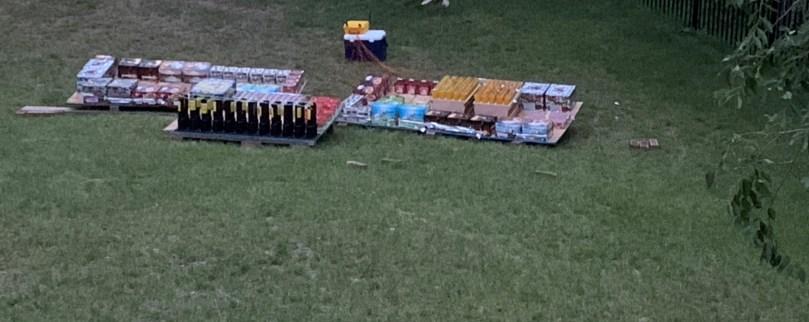 Final fireworks setup