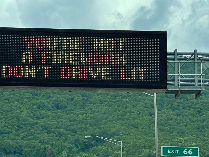 You are not a firework - don't drive lit!