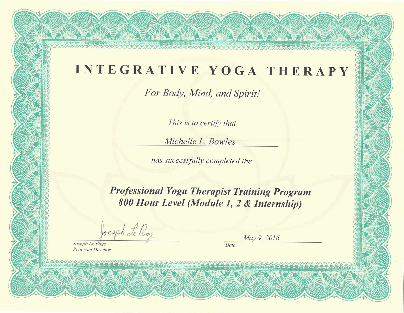 IYT 800 PYT Certificate