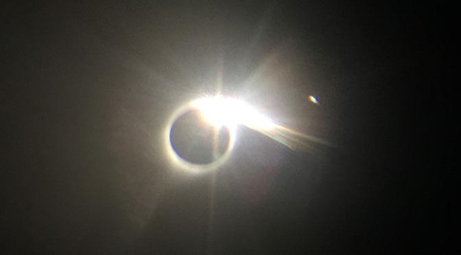 A few eclipse photos from first landfall – Oregon Coast