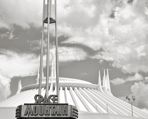 MLCreations Photography: WDW in B&W &emdash; Space Mountain - BW