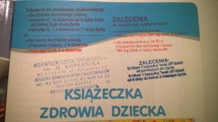 Zalecenia w książeczce 2011