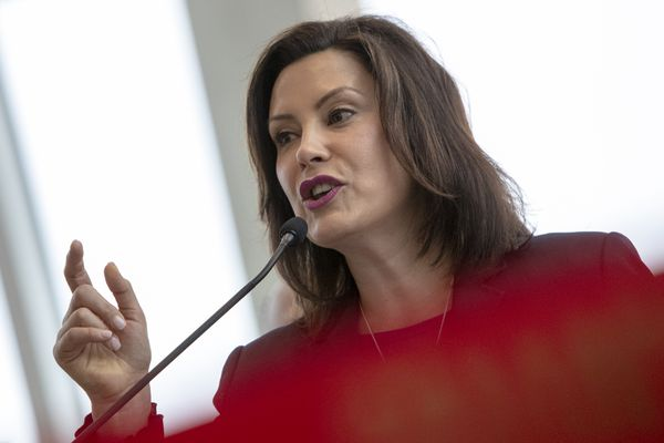 Gov. Gretchen Whitmer speaks at a 2019 press conference in this file photo. (Cory Morse | MLive.com)