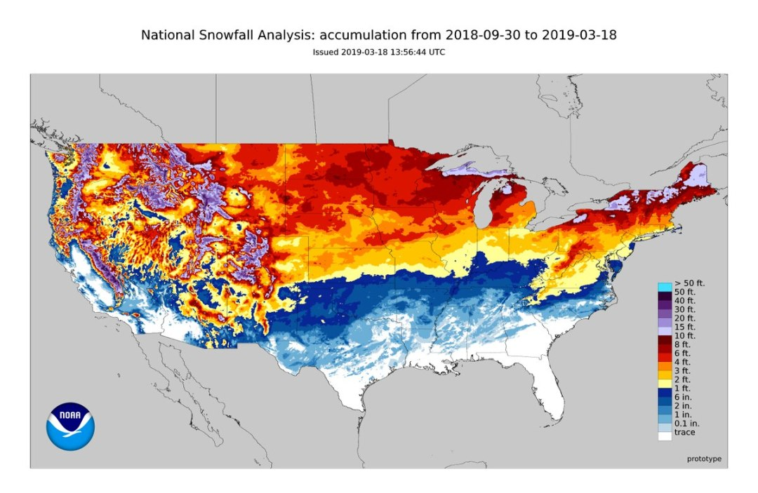 Image result for snowfall totals 2019