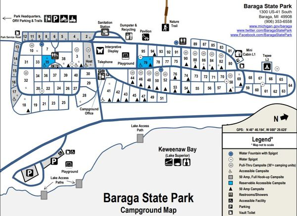 A map of what Baraga State Park will look like after the $1.2 million upgrades.